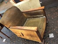 Oak Art Deco Armchair : free Glasgow delivery
