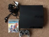 160GB PS3, light up pad & Spiderman game