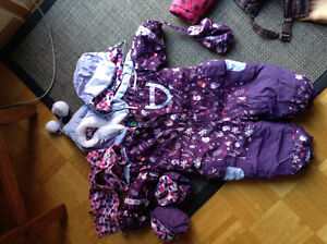 12 month one piece snowsuit with hat and scarf Belleville Belleville Area image 1