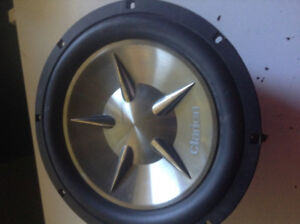 "12"" Clarion Sub, Exile Amp and 2 wiring kits"