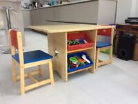 Children's GLTC table and 2 chairs
