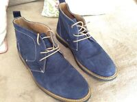 Mens Desert Boots blue suede leather size 9 hardly worn £8.00