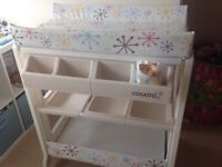 Cosatto changing table with inset bath