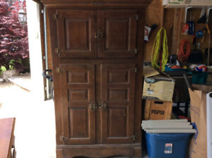 White Oak Antique Ice Box