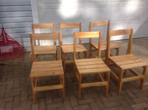 6 chairs made with birch nice for cottage or hunt camp