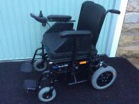 Invacare Harrier XHD ELECTRIC WHEELCHAIR,heavy duty 25st (160kg) user weight.