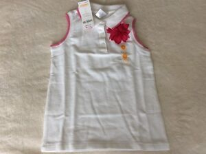 New with Tags- Gymboree Size 7 WhiteSleeveless  Polo