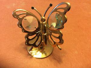 2 papillons décoratifs en plaqué or. Gatineau Ottawa / Gatineau Area image 2