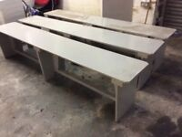 8ft Long Painted Plywood Benches