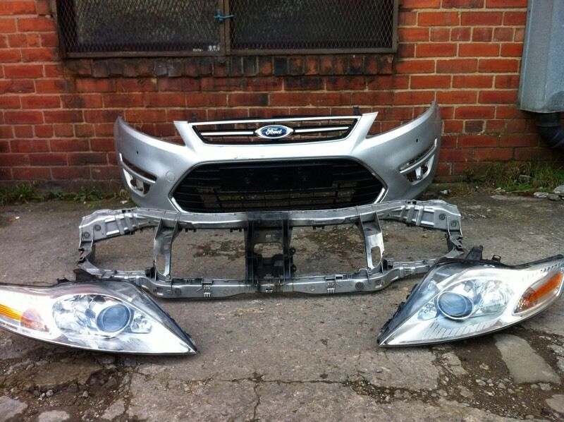 Ford mondeo titanium 2011 2012 2013 genuine front bumper + headlights + slam panel