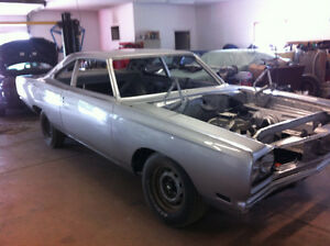1969 Plymouth road runner restored rolling chassis.