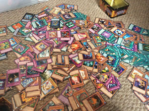350 cards of yugioh and lots of rare cards!!!