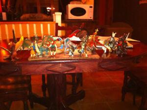 Figurines Dragons, pheonix, archer,