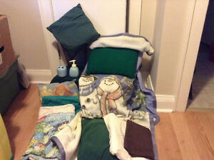 Bedding-Single Sheets, New Blanket, Pillows, Towes,