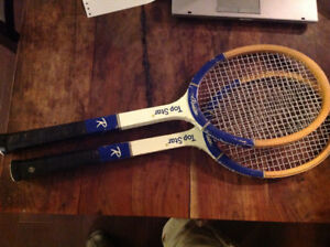 Set of 2 vintage tennis racquets