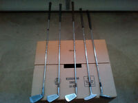 """GOLF """"IRONS"""" for sale. Five irons total. Only $15 for all five."""