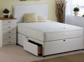 💗💓CLASSIC SALE 💗💓GUARANTEED PRICE! Small Double Divan Bed With Economy Mattress-Drawers Option