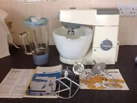Vintage Kenwood Chef. A701 with 3 attachments, liquidiser and mincer.