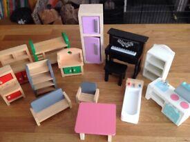 Wooden Dolls House Furniture.