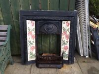Solid fuel Cast iron fireplace with grate and ash pan