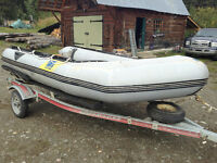 12.5' Zodiak with trailer
