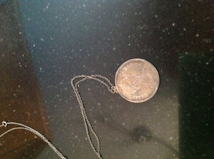 1965 silver dollar with silver chain