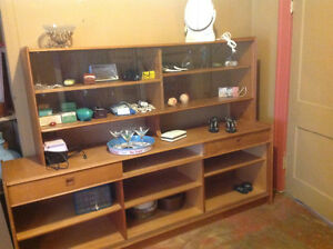 Display wood  cabinet