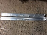 A pair of Chrome Cill strips for a golf mark 1 GTI