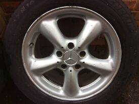 """Mercedes Alloys with Tyres 16"""" W203"""