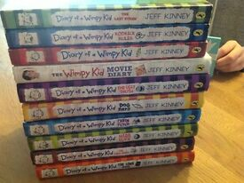 Diary of a Wimpy Kid. 10 Assorted books.