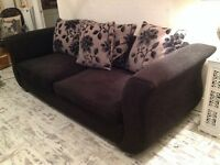 D f s black chenille sofa