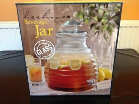 BEVERAGE/JUICE DISPENSER BEEHIVE SHAPED ( RECYCLED GLASS) - New