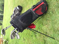 Full set of Tourstar golf clubs with bag