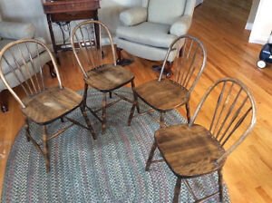 Antique Bentwood Kitchen Chair Set