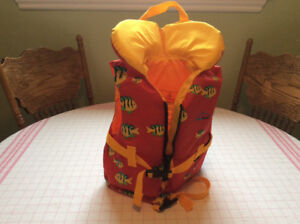 Life jackets for children used once