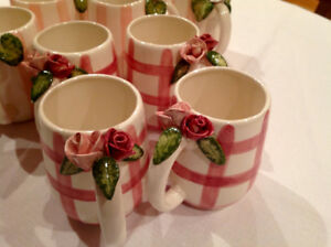 Vintage Hand Painted Ceramic Cups