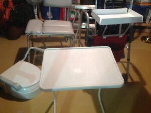 Marchette,siège de toilette avec bras, siège pour bain, table