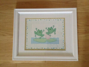 WOOD FRAME DUCK & FROG PICTURES WALL ART London Ontario image 3