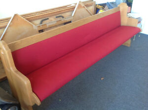 Bueatiful church pew, padded