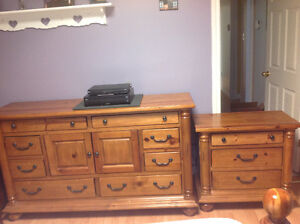 Great deal. Solid pine dresser and night table St. John's Newfoundland image 1