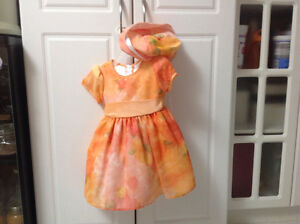Girls dress with matching hat
