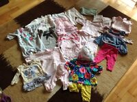 Bundle of Baby Girl Clothes 0-3 mnths