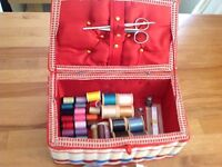 Vintage style sewing box,filled.
