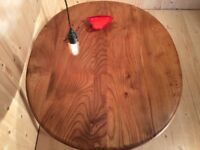 Stunning Blond Ercol Elm Large Oval Coffee Table