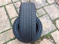 2 195/50r16 continental premium contact 2 car tyres