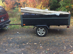 """NEW HOME MADE TRAILER ,50"""" WIDE 100"""" LONG FIRST 750."""