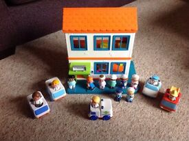 Vintage Rare happyland hospital and emergency services