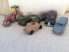 6 Dinky Toys