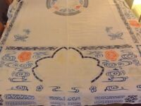 Hand printed cotton cloth