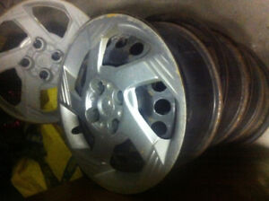Steel rims and hubcaps